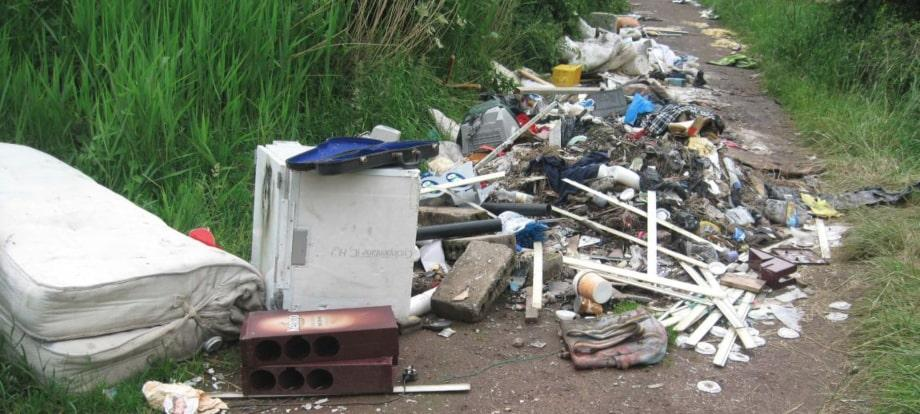 Fly-tipping problems in the UK